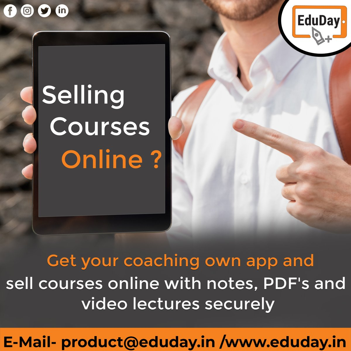 Transform Teaching, Inspire Learning and Deliver a world-class Student Experience.  Get in touch to know more:- Phone : +91 7447712085 E-Mail: product@eduday.in visit:- http://www.eduday.in   #eduday #edudayindia #pune #india #tab #tablets #CoachingInstitute #Coachingclassesspic.twitter.com/Qgc6S3TSvV