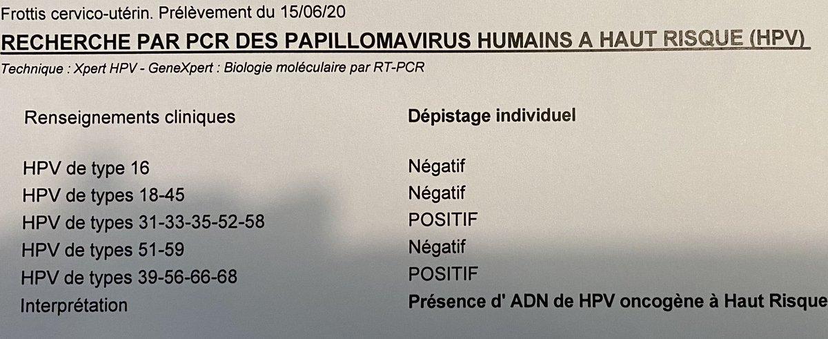 recherche papillomavirus frottis