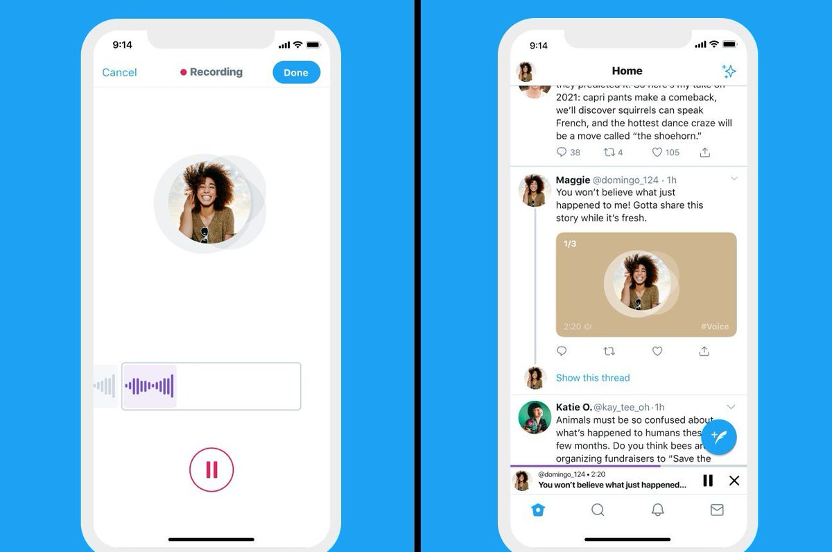 Twitter starts rolling out audio tweets on iOS