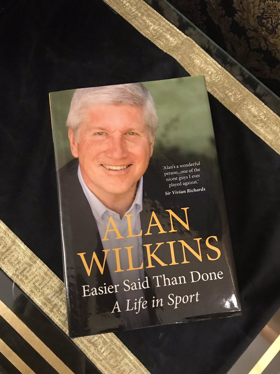 "Just received this wonderful piece of writing ""Easier said than done, A life in sport"" by @alanwilkins22 .👌  Really looking forward to give it a read, I'm sure it'll be a good one.🙌 https://t.co/ryoA4imQsi"