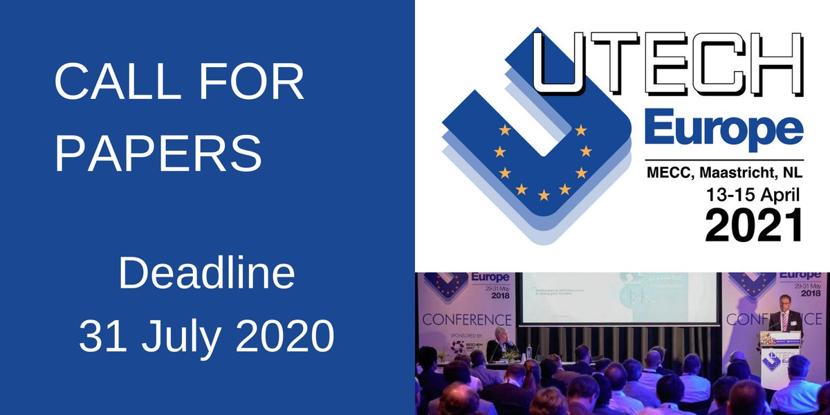 We are accepting abstracts for the UTECH Europe 2021 #polyurethanes conference taking place 13-15 April 2021 at the MECC Maastricht, the Netherlands. Full details and online submission form here: https://t.co/332Vw4bZhn https://t.co/JMoYELfoBd