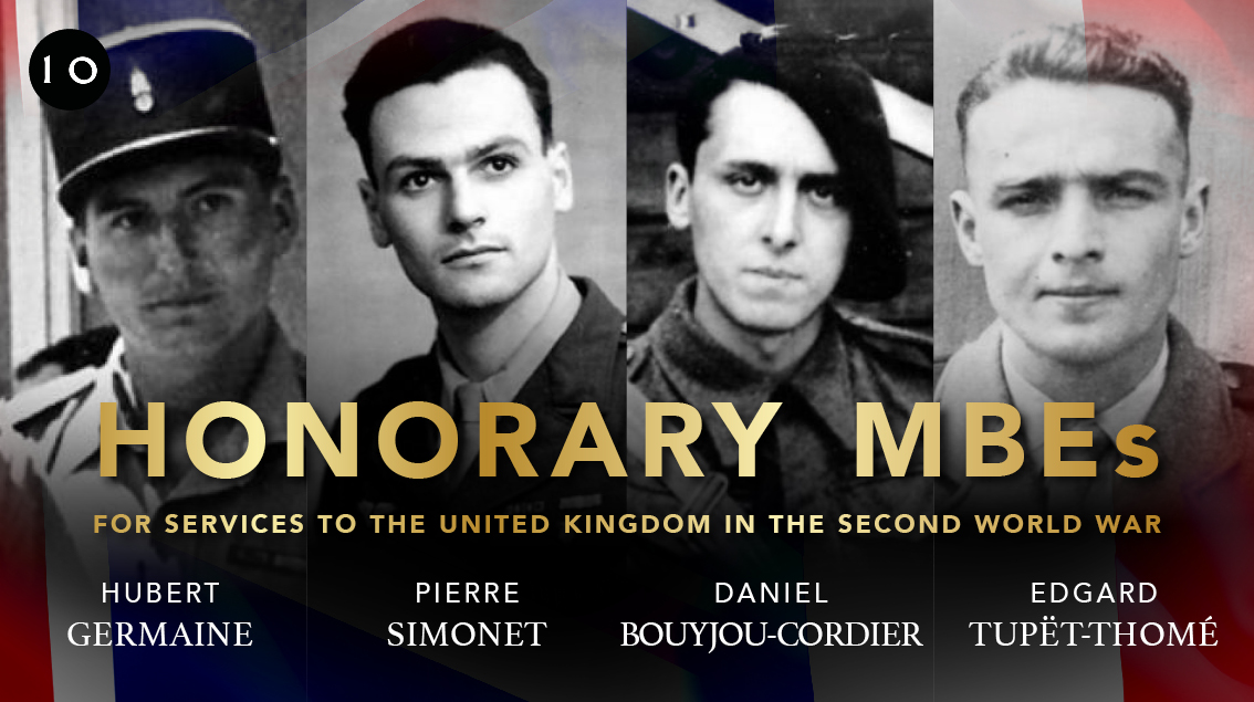 Four surviving French Resistance fighters will receive honorary MBEs from Britain in recognition of their role defending the UK, France and other Allies in the Second World War.   ➡️ https://t.co/EVEAI96IRl https://t.co/au1cHBgM2S