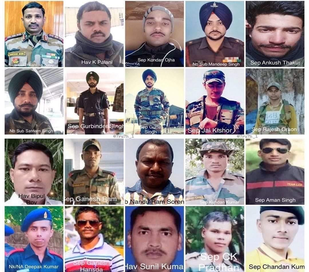 The Brave hearts of Bhartiya Sena who fought until their last breath to protect their motherland will inspire us for generations to come. The whole nation stands in solidarity with the grieving families. Jai Hind. Om Shanti. #IndiaChinaFaceOff  #IndianArmy