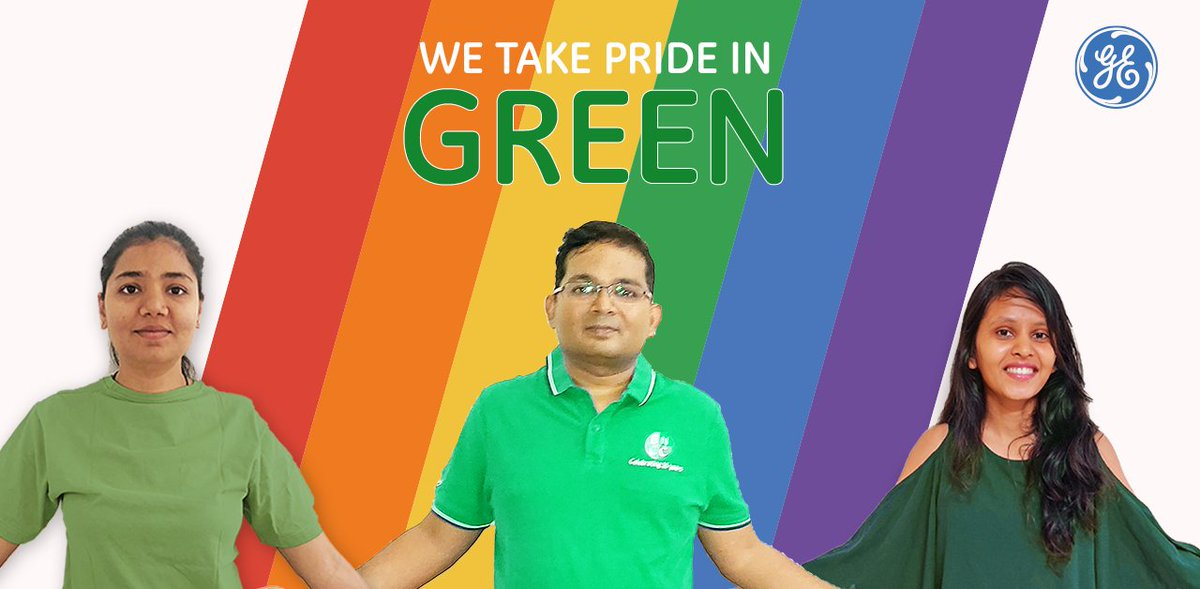 Green represents nature. At #GE, we embrace our differences and celebrate diverse perspectives that bring alive our natural strength & beauty! 🏳️🌈  #Pride #PrideMonth #GEProud https://t.co/Z0V7YyxARZ