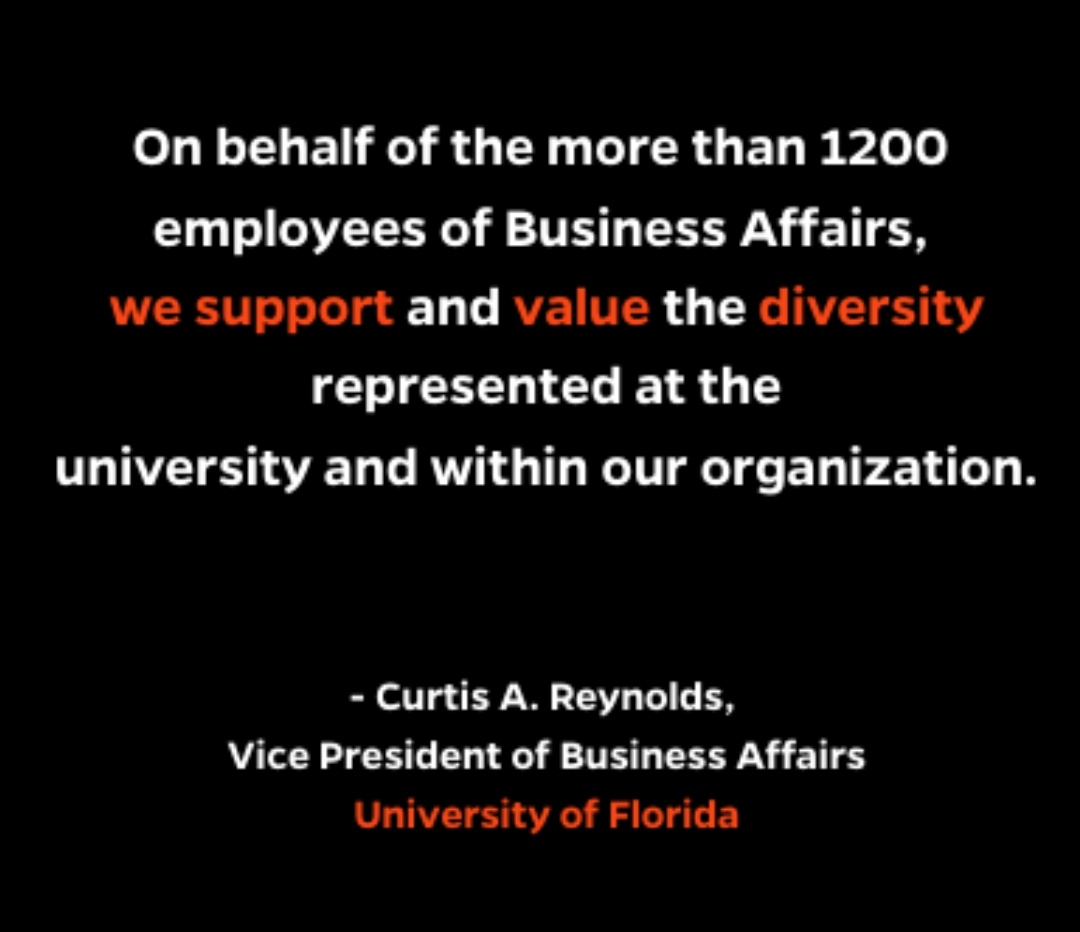 Statement from Vice President of Business Affairs, Curtis Reynolds businessaffairs.ufl.edu/uncategorized/…