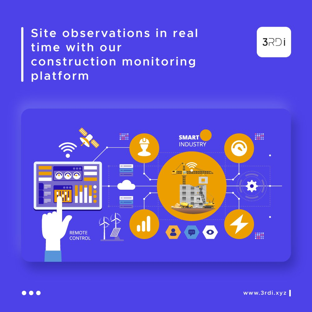 Our comprehensive and unified platform helps you in getting daily workprogress and site observations updated through the app and available across teams. . . . #3RDI #AI #construction #constructionTech #SustainableDevelopment #Design #3DPrinting #IoT #InternetOfThings https://t.co/GzVNZCWEg9
