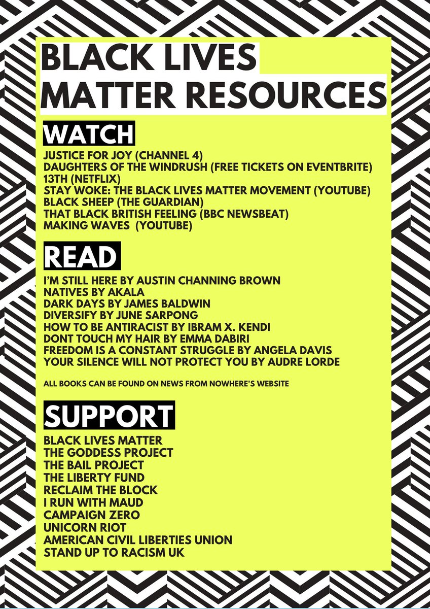 Please take action through educating yourself, support charities in the fight or having a conversation about how we can create a more inclusive society #BlackLivesMatter
