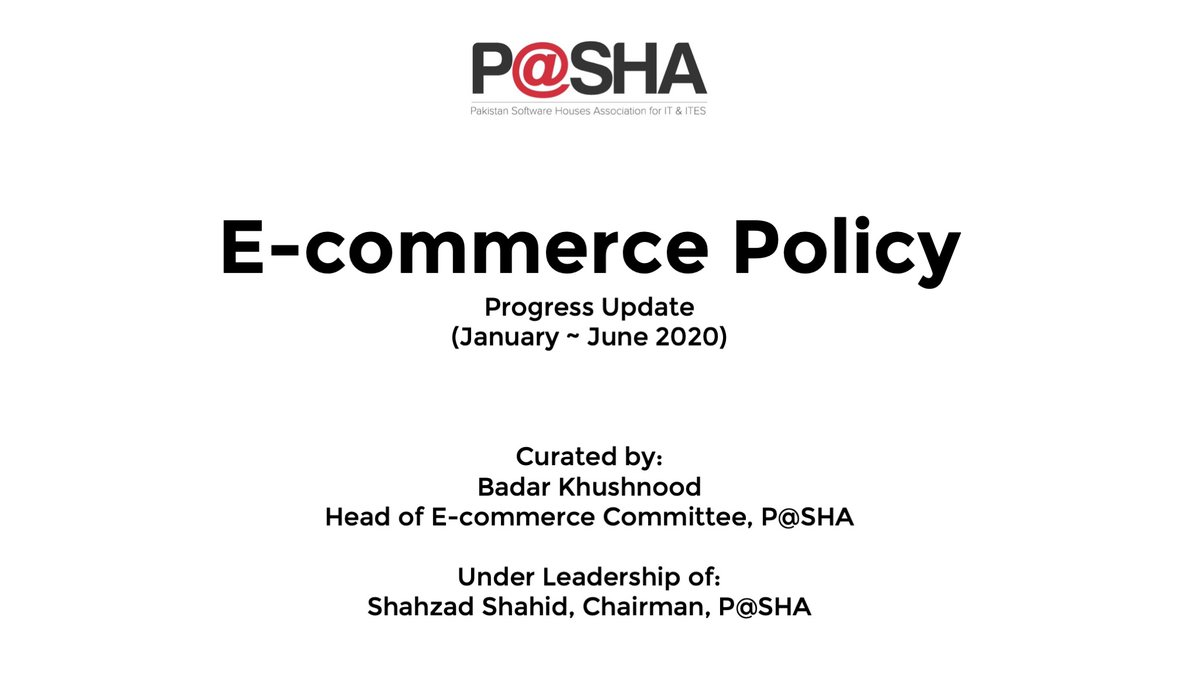 2nd meeting of National #Ecommerce Council #NECC Pakistan 🇵🇰 being hosted by Min. of Commerce @Emergingpk with @razak_dawood.  Summary of progress & recommendations 2 pub. & pvt. sector stakeholders were presented by @PASHAORG. . . #Covid_19 #onlineshopping https://t.co/b5ZJI5yWeG