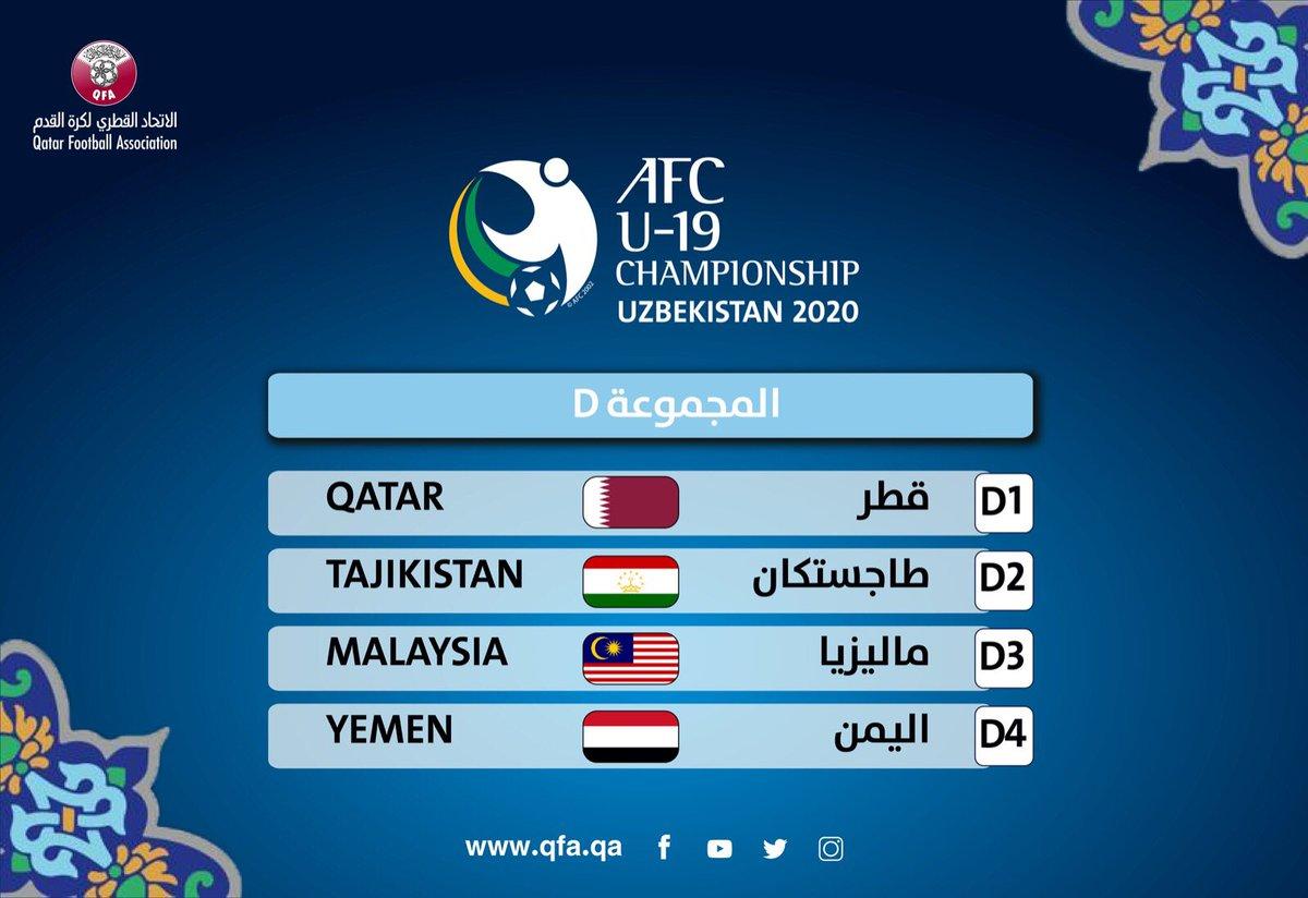 منتخبنا الوطني في المجموعة الرابعة من بطولة آسيا للشباب تحت 19 عاما 2020 #منتخب_قطر #AFCU19