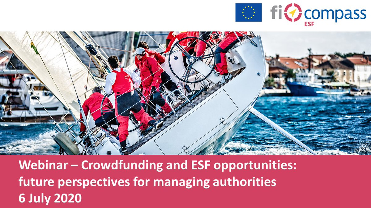 📢All you need to know to enhance #citizenengagement with alternative finance and get projects off the ground ➡️#Joinus on 6 July at our next #ficompass #webinar to find out more about #Crowdfunding and #ESF https://t.co/rH87U8p4b9  #financialinstruments @EU_Social https://t.co/q0cG0UBvGM