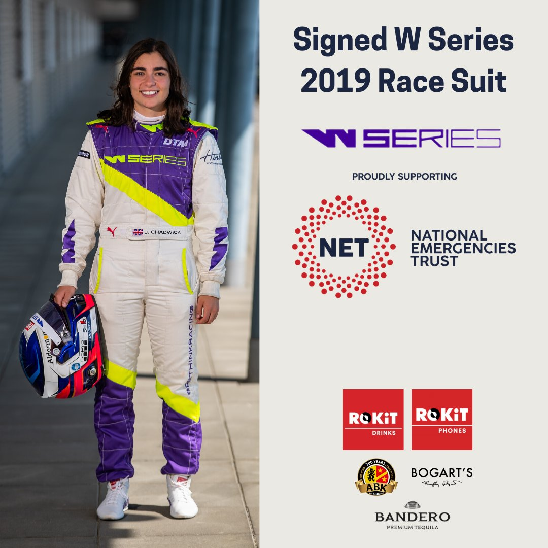 Day 4 of #ROKiTCharityWeek and you can get your hands on this one of a kind Signed @WSeriesRacing Race suit, signed by all of the 2019 W Series Drivers!🏎 Including @JamieChadwick55, @beitskevisser and @alicepowell! Please dig deep for a very worthy cause! https://t.co/MhGJO0r8r9 https://t.co/svjRXcXQ4D