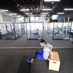 Image for the Tweet beginning: #Gym workout pods, the new