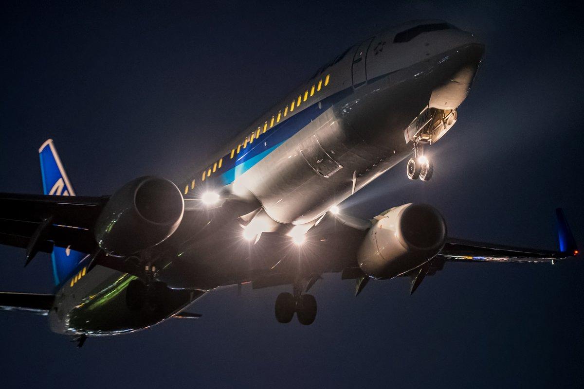 【ANA飛行機写真】 夜空を照らして✈️ (Photo:@TetsubowlU) いつかの空旅へ✨ ⇒ana.ms/3fv7LsT ANAの飛行機は「#ソラマニ_ヒコーキ」をつけて投稿してね🌟ANAの各メディアでご紹介していきます❣