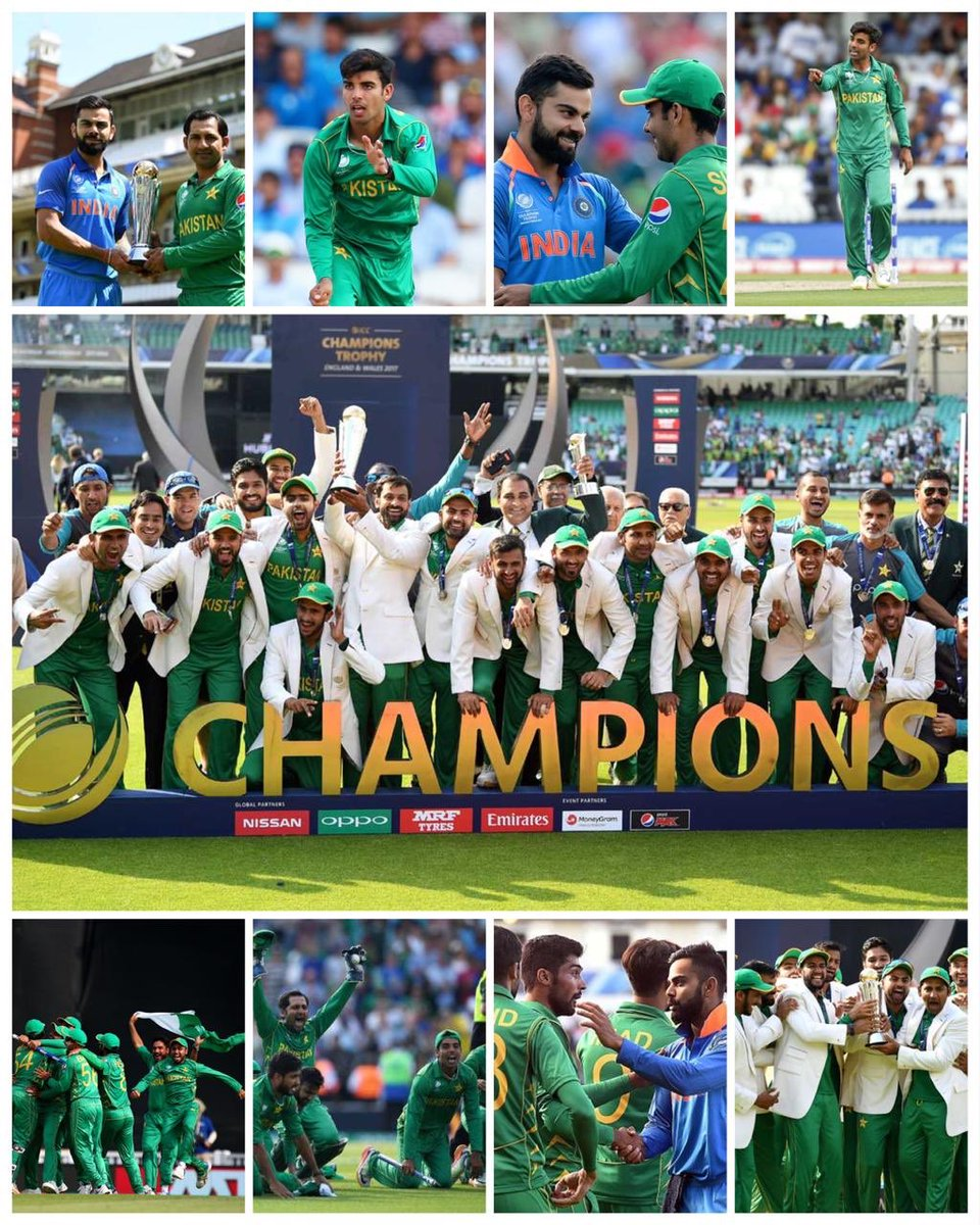 """""""Pad hay, pad hay, saifi bhai pad hai"""". The 2017 Champion's trophy will always be very special to me. Winning it for our country and getting that love was amazing. #PakistanZindabad https://t.co/yI8VjO9YWj"""
