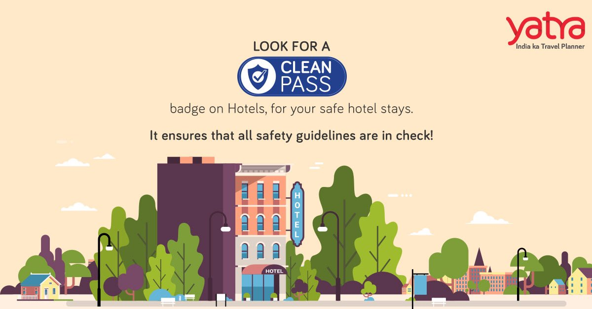 Travelling soon? Don't forget to look for a 'Clean Pass' badge!  It is an assurance that the highest safety and sanitisation measures are in place across 11,120 hotels across country.   Enjoy a safe and a relaxed hotel stay, while we take care of the rest! #IndiaKaTravelPlanner https://t.co/HaQiIkZFaW