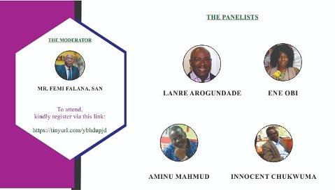 Join Mr. Femi Falana (SAN) , Mr. 'Lanre Arogundade @lanreipc , Ms Ene Obi, Mr. Mahmud Aminu @AbdulMahmud01 and Mr. Innocent Chukwuma @chukwumacleen at the 20th ACSR on Saturday. Kindly register here tinyurl.com/ybhdupjd to get event details An event you dont want to miss.