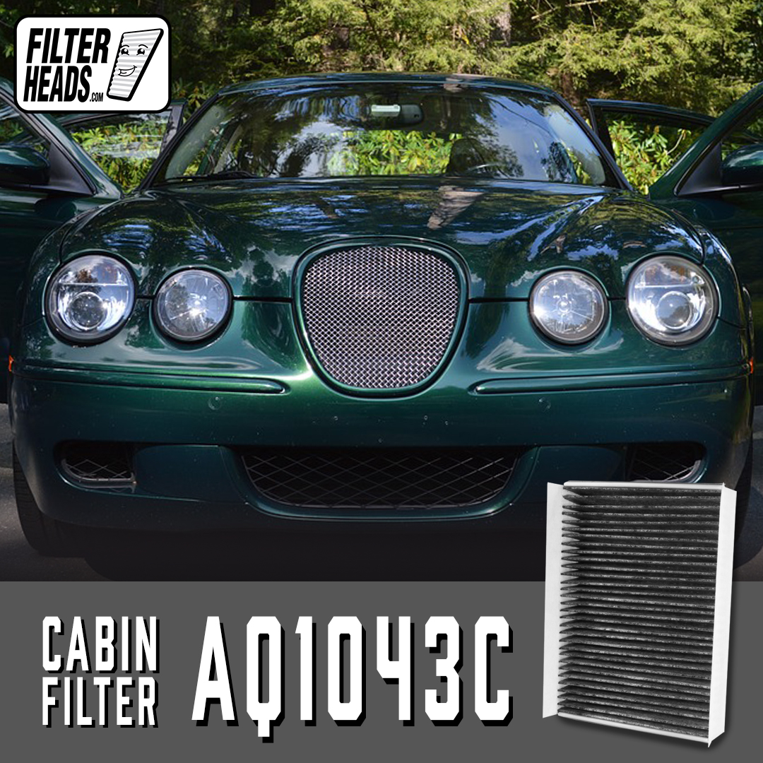 The cabin air filter AQ1043C fits in the Jaguar S-Type 2003 - 2008  Purchase this filter at: https://www.filterheads.com/i-188-aq1043c-cabin-air-filter-carbon-media-absorbs-odors.html?ref=category%3A12 …  #Howto #Cabinfilter #Airfilter #EngineAirFilter #filterheads #DIY #cabinairfilter #pollenfilter #jaguarstype #stypepic.twitter.com/6NPKXcJUFS