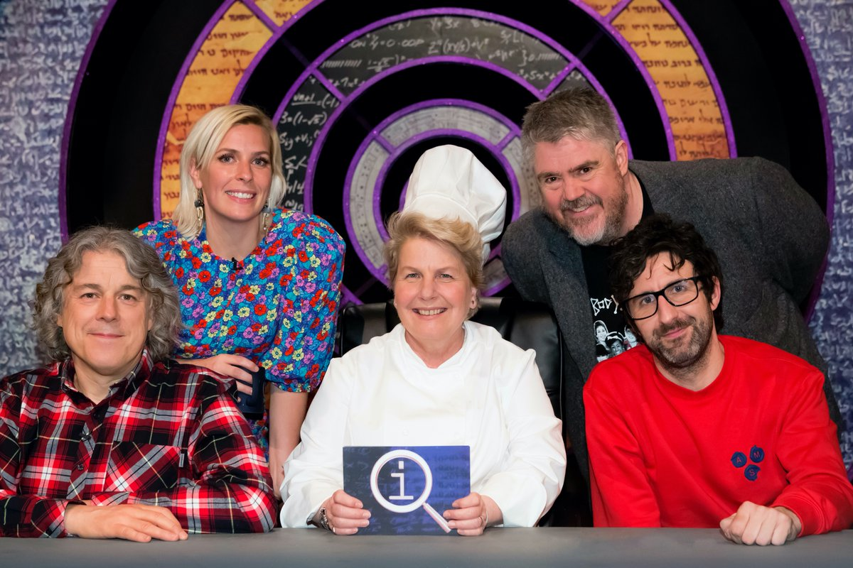 We've got a tasty treat for you tonight, as @sanditoksvig invites viewers to join her in the #QI @qikipedia Restaurant! You'll be taken to your table at 9pm tonight on @BBCTwo, and the other diners will include @alandavies1, @sarapascoe, @watsoncomedian and Phill Jupitus! https://t.co/pgRyddXFQD