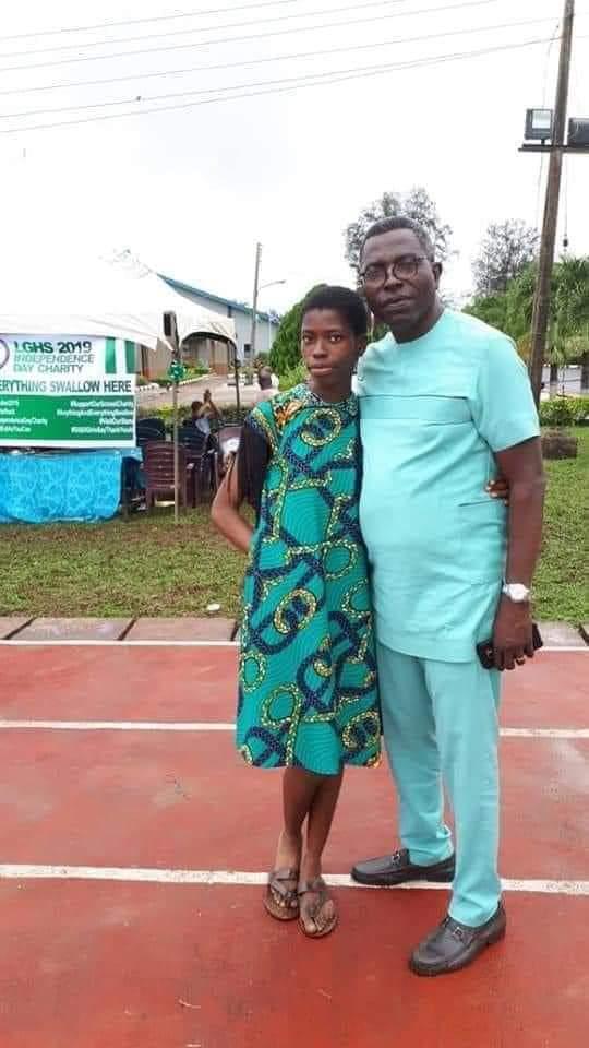 2020 UTME Best Student, Miss Agnes Egoagwuagwu Madufokwa with her Dad , Mr Madufokwa.