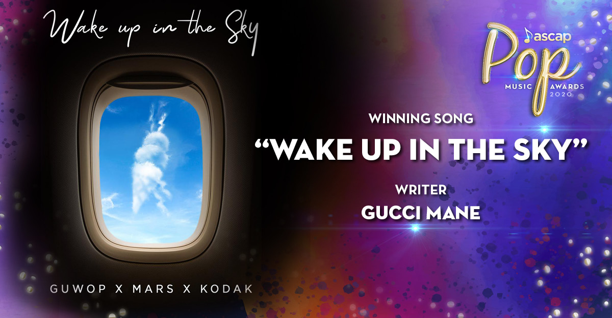 """""""Fly, fly, fly. It's Gucci"""" 🔥 @gucci1017 #WakeUpInTheSky #ASCAPAwards"""