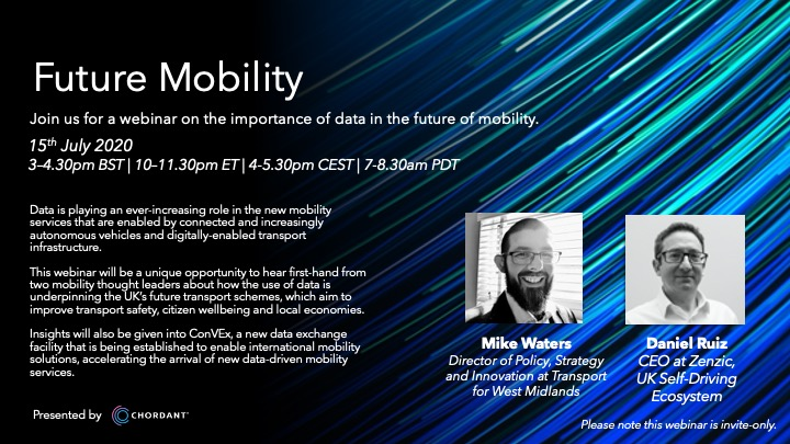 Opportunity to hear about ground breaking work on data sharing and the future of mobility via @mychordant @TransportforWM @ZenzicUK @boldline2017