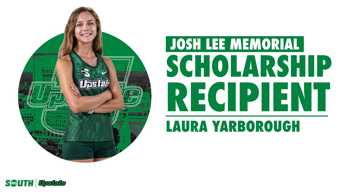 Laura Yarborough has been named the recipient of this year's Josh Lee Memorial Scholarship, named in honor of the late Josh Lee, a former Upstate cross country scholar-athlete.  #SpartanArmy ➡️ #JoinUP  🗞️: https://t.co/KrxO7YoJzC https://t.co/XfpNGSrs3L