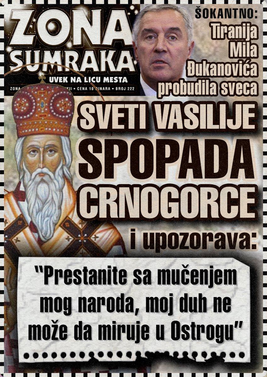 Milo Đukanović probudio Svetog Vasilija da spopada Crnogorce