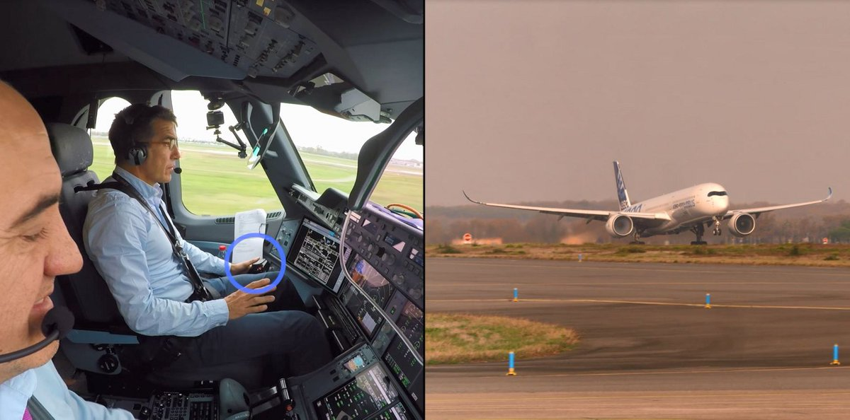 How hard can it be to land A350 without a pilot?  - We just did it thanks to Deep Learning!😎  @Airbus completes world's first fully automatic, VISION-BASED autonomous taxi, takeoff and landing with A350 test aircraft under ATTOL project, CTO @graziavittadini says #AiaaAviation https://t.co/Xs561EKvea