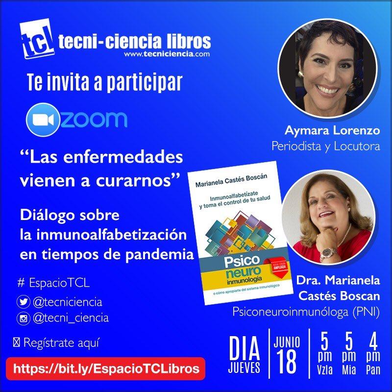 #18Jun los invito hoy jueves  a este encuentro con la psiconeuroinmunóloga @MarianelaCastes https://t.co/adTSQHO7Dy