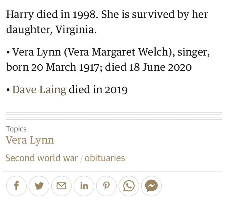 The writer of the Guardian's obituary of Vera Lynn died before she did theguardian.com/music/2020/jun…