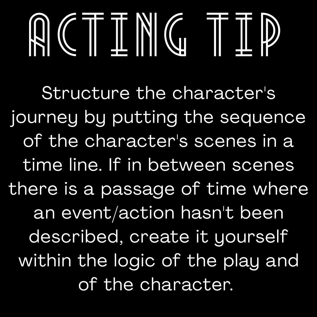 #actingtips #actingtip #characterslife #throughlineofaction #stanislavskisystem #buildingacharacter #tipsforactors #totheactor #understandyourcharacter #understandthestory #charactersjourney https://www.instagram.com/p/CBlJzb3HvCX/?igshid=1wns84v0ear1u…pic.twitter.com/l8gH0z4ZIS