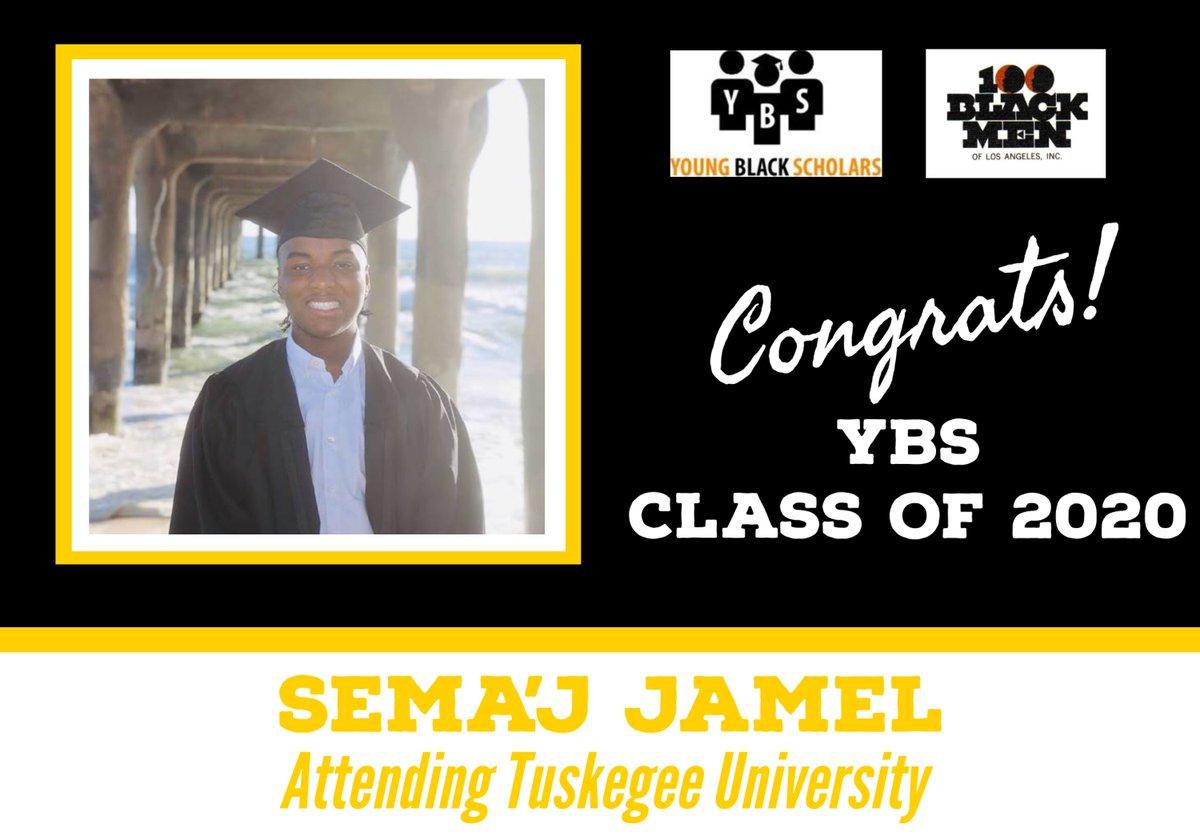 Meet Young Black Scholars' Class of 2020 Senior Sema'J Jamel.  Sema'J will be attending Tuskegee University in the Fall.  Congratulations Sema'j!  @100bmoa @100BlackMenLA #ybs #100blackmen #youngblackscholars #collegebound