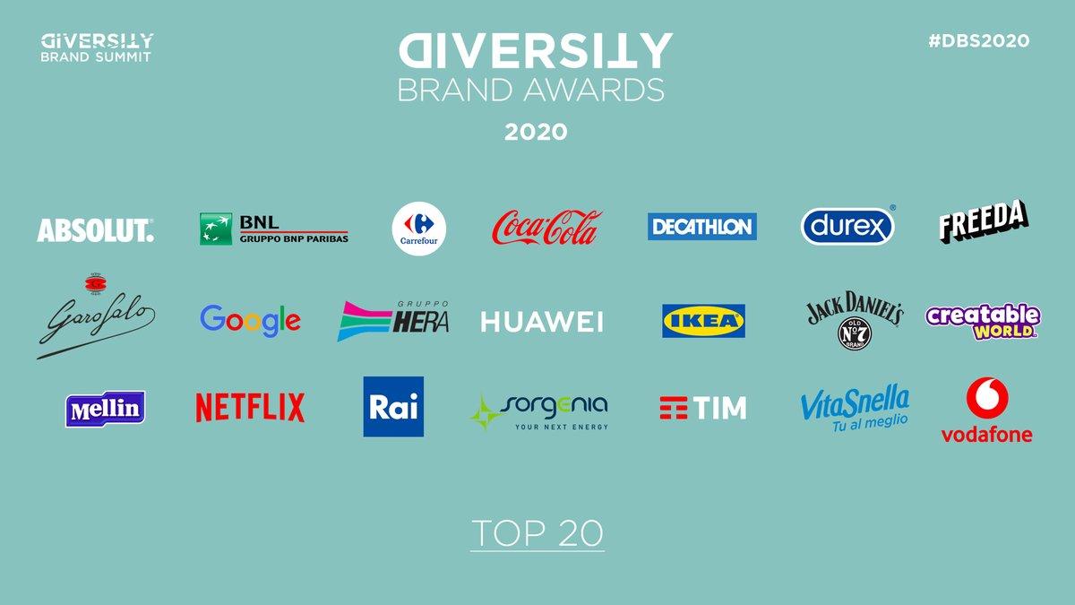 Ecco la TOP 20 del Diversity Brand Index di quest'anno.  Complimenti a tutte le aziende per l'impegno dimostrato nel cercare di coltivare ambienti di lavoro inclusivi, rispettosi e dove tutt*  possano esprimere al meglio il proprio talento  #DBS2020 #EffettoDomino https://t.co/JpTpsOetAQ