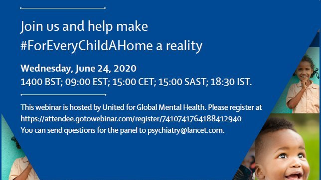 We're launching a Lancet Group Commission on the institutionalisation and deinstitutionalisation of children. Join us: 24 June at 14:00h BST. #ForEveryChildAHome @MaestralIntl @chrisdcuthbert @lumos @ExPANDKCL @ionica_official @patlimahken @TheLancetPsych @UnitedGMH https://t.co/0FXQT7eemS