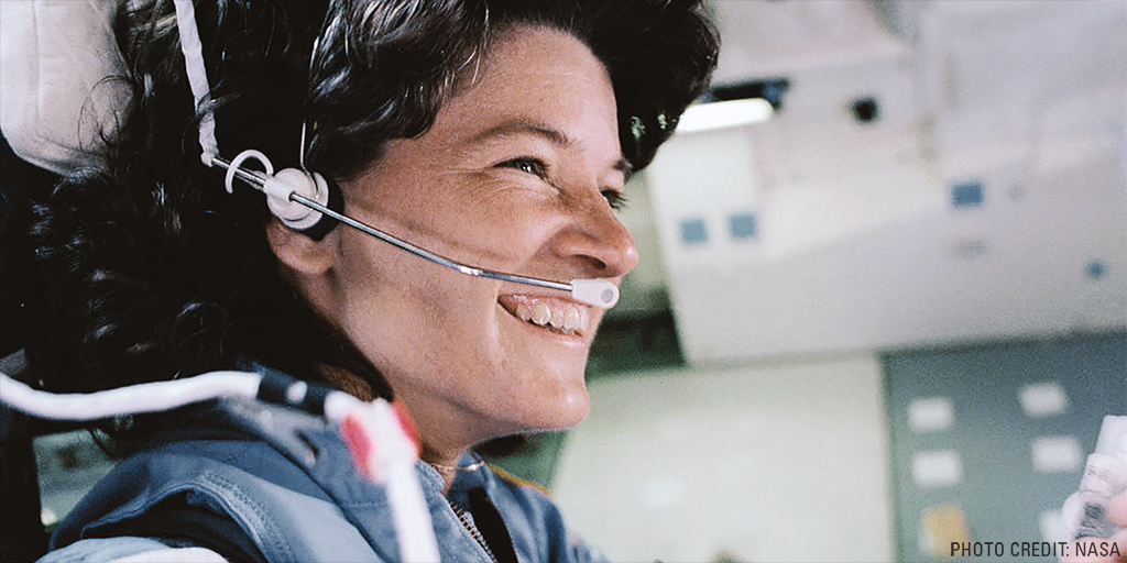 #TBT On June 18, 1983, Astronaut Sally Ride became the first American woman in space launching aboard the space shuttle Challenger with four other colleagues.  #SallyRide #NASA #FisherSpacePen #AmericanTechnology https://t.co/eC1lJ9QdWX