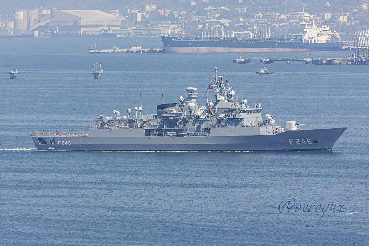 #TurkishNavy #BarbarosClass #MEKO200TN Track IIB #frigate #F246 #TCGSalihreis #Gölcük