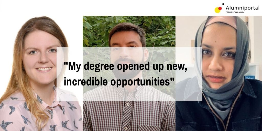 How did their time in 🇩🇪 change the lives of former @DAAD_Germany scholarship holders? The roughly 180 participants of the DAAD's first virtual graduates' seminar in May 2020 were given some glimpses. We talked to three of them: https://t.co/4upFOahFV9 https://t.co/WJ1Rnn5fqC