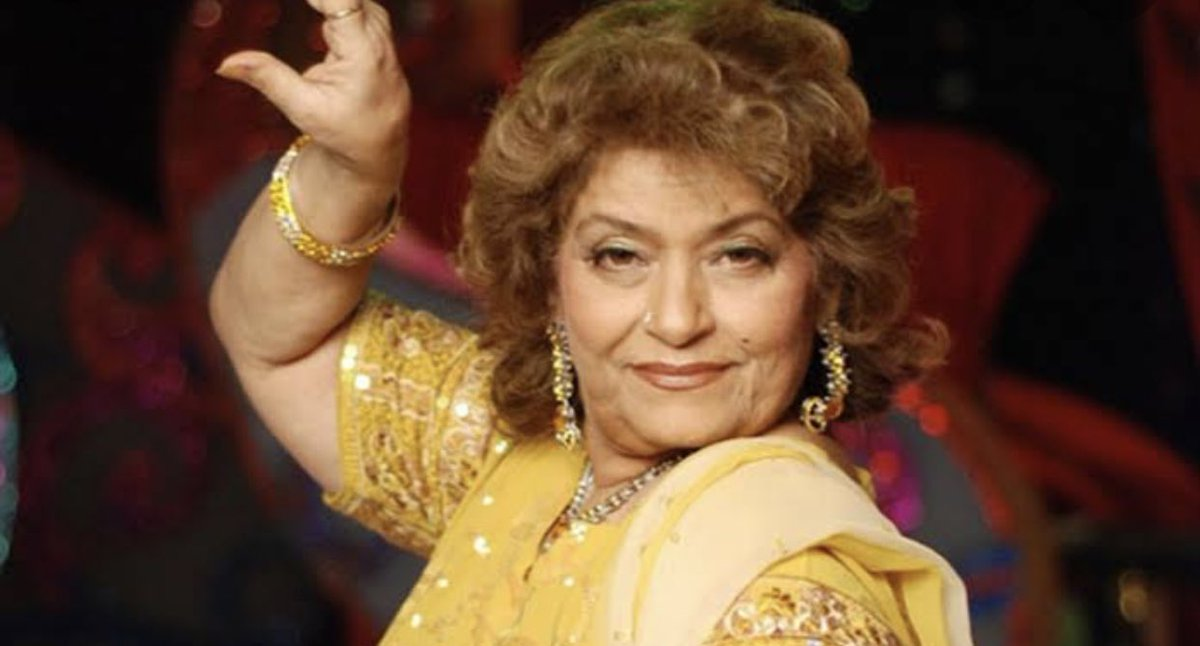 You are legend.I don't know many who make a heroine look so immaculate .You gave a lot of us the courage to make dance our own with so much abandon! I've won competitions thanks to your choreographies:) #RIPSarojKhan Thankyou so much for setting so many feet and spirits free.
