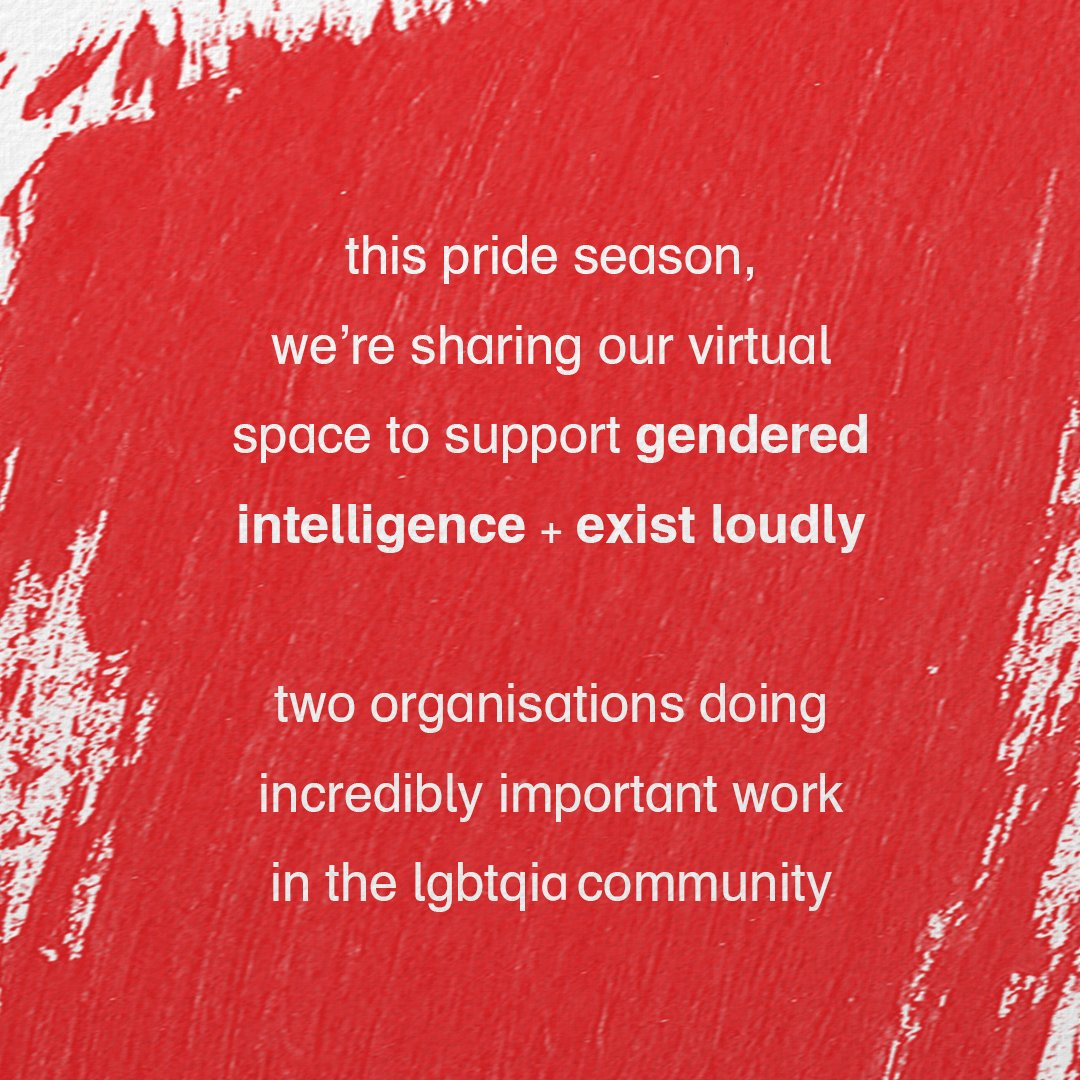 1/ this pride season, we're sharing our virtual space to support @Genderintell + @ExistLoudlyUK. two organisations doing incredibly important work in the lgbtqia+ community https://t.co/w3YveVhncO