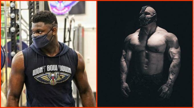 Zion的最新訓練照出爐,成功減重25磅,戴上口罩像極蝙蝠俠的大反派!
