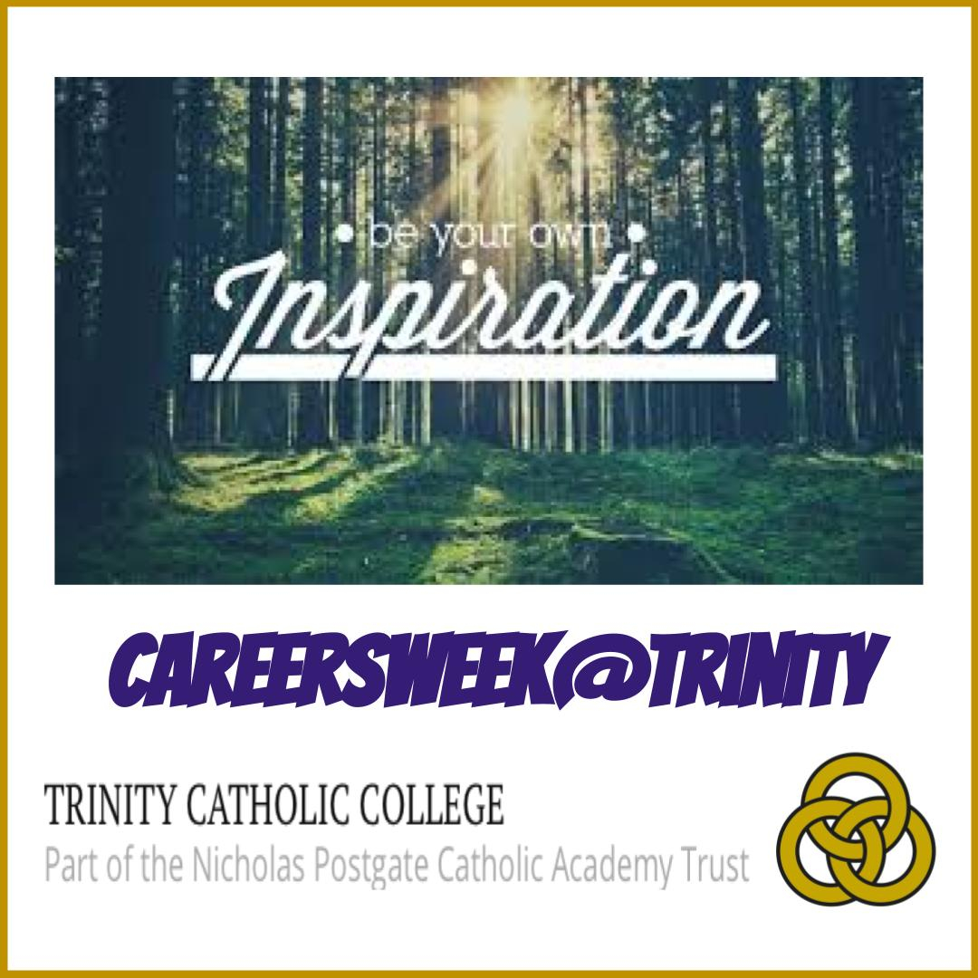 Good Morning Trinity!   This is not the end of your career journey - this is just the beginning. Be your own inspiration and make your dream career happen.   #TrinityCareers  #NextSteps #Trinity6thForm #Future #CareersWeek2020 #CareersWeek #IAG #job https://t.co/ZerA15daoe