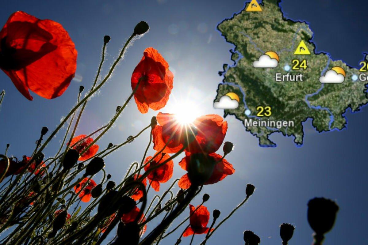 So wird das Wochenend-Wetter in #Thüringen. https://t.co/dBl4A0o2FQ https://t.co/IBCMpzvvTQ