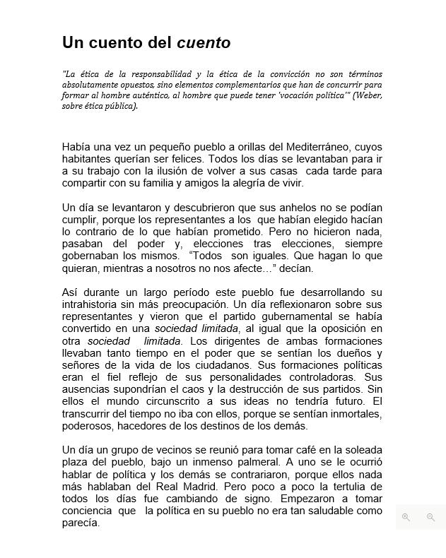 José Megías Aznar comparte con nosotros sus reflexiones: 'Un cuento del cuento' pic.twitter.com/11ToVMhrcJ