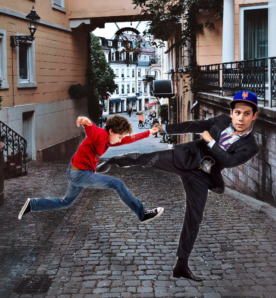 This a photo of Dylan KICKING a KID just because he wasn't a Mets' fan. He also said he would do it again #dylanobrienisoverparty<br>http://pic.twitter.com/KqS108ZNsm