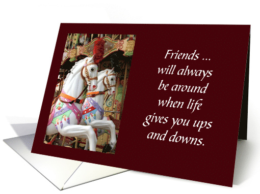 Encouragement For A Friend Ups And Downs Horse Carousel card  #friends #carousel #upsanddowns #support #friendship https://t.co/ylNqnGJbDc https://t.co/ApxOIU71po