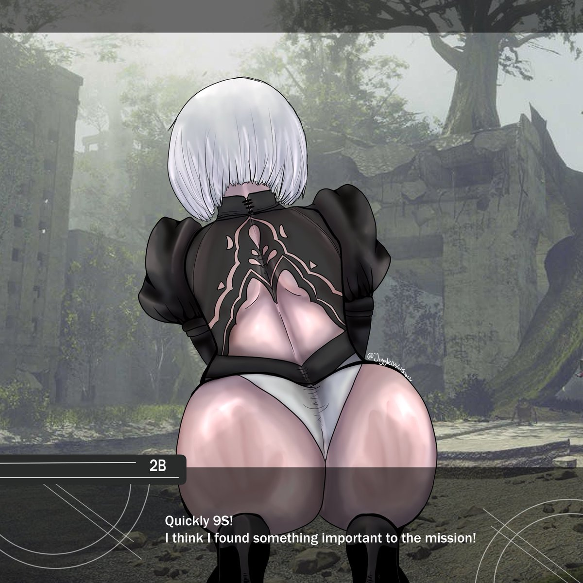 I've been playing some nier automata recently... and damn 2B is thicc....   #2Bfanart #NieRAutomata #fanart #NSFWart #videogameart #2B #buttcheeks #thiccc #thiccpic.twitter.com/4AXrU0iyvs