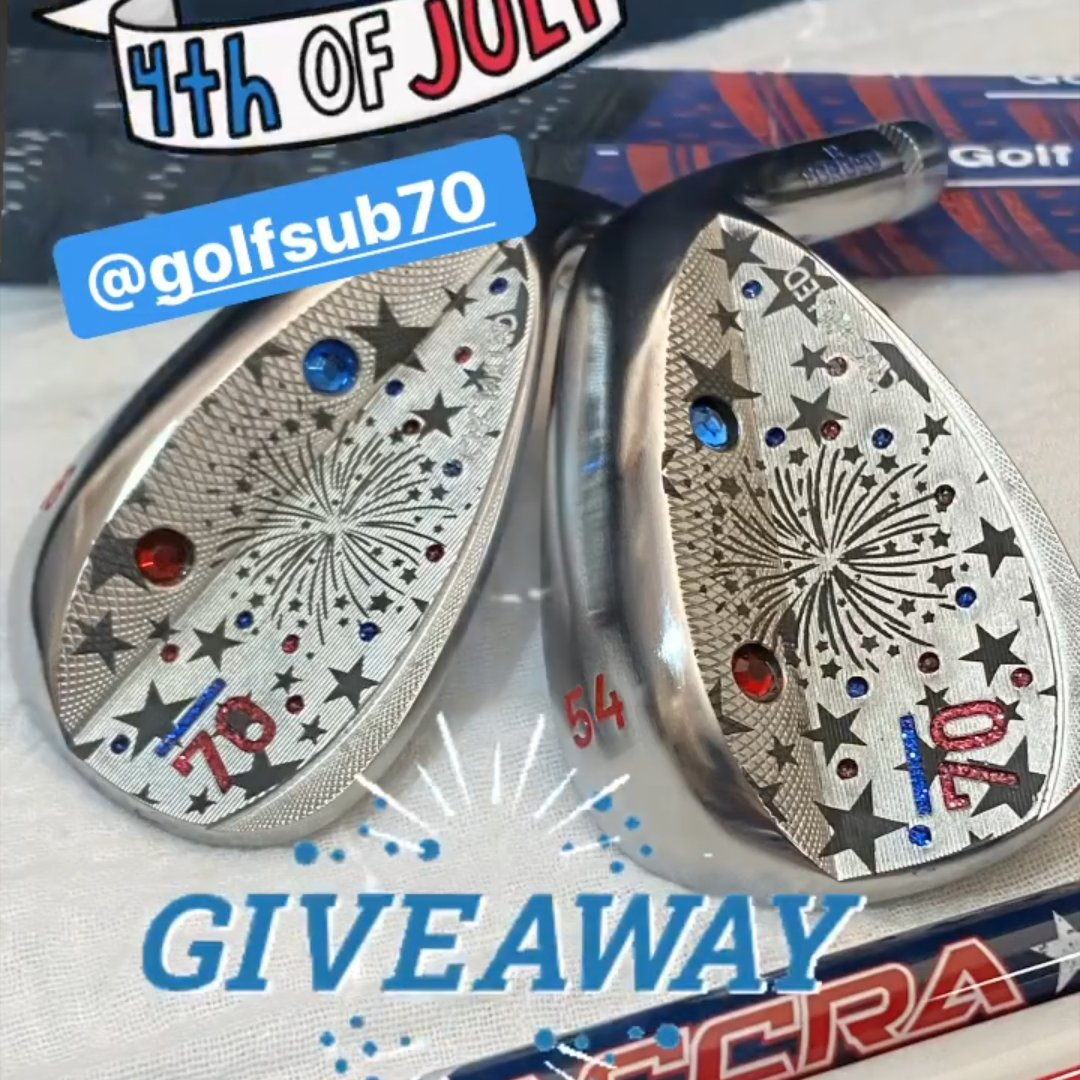 Be sure to follow @wedge_fx on Instagram for this awesome custom wedge giveaway!!!  #4thofJuly #IndependenceDay #usa #america #sub70 #golf https://t.co/T49WD9Sz4c
