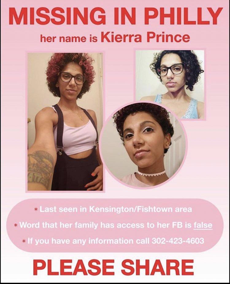 ***PHILLY FOLKS*** PLEASE HELP US FIND KIERRA PRINCE.