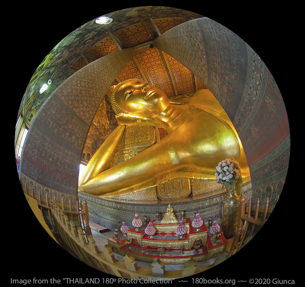 Todays Featured #THAILAND180º Photo: Reclining Buddha Image ~ Bangkok, Thailand -This 46 m long, 15 m high Buddha image fills the chapel of Wat Po & is a must-see. #ReviewThailand #ThePhotoHour #180books #DailyPhoto #ThaiTemple #AmazingThailand #FotoRshot #Buddhism