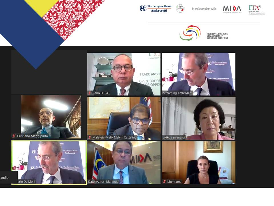 2/7/20-Time for a #throwback! Catch up on our High Level Dialogue on ASEAN Italy Economic Relation 2020 #webinar,the 1st digital round table with IMBA @ITAtradeagency @Ambrosetti_, @OfficialMIDA welcoming more 🇮🇹 investors to leverage on 🇲🇾's competitive & comparative advantages. https://t.co/sNkJpcIhei